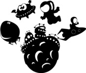 Universe Vectors - Mega Bundle - Space Objects Silhouettes 3