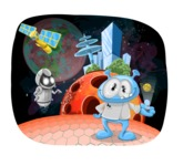 Universe Vectors - Mega Bundle - Smart Alien on the Moon