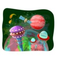 Universe Vectors - Mega Bundle - UFOs in Space