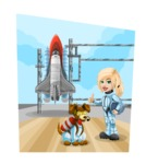 Universe Vectors - Mega Bundle - Astronauts at Shuttle Launch Pad