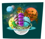 Universe Vectors - Mega Bundle - Alien City in Space