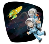 Universe Vectors - Mega Bundle - Spaceman and Dog in Space