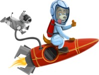 Universe Vectors - Mega Bundle - Dog Riding a Rocket