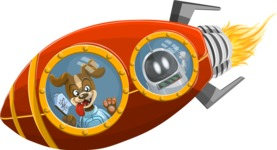 Universe Vectors - Mega Bundle - Dog Inside a Rocket