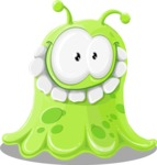 Universe Vectors - Mega Bundle - Green Alien Smiling
