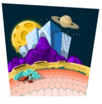 Universe Vectors - Mega Bundle - City on Alien Planet