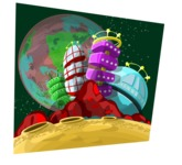 Universe Vectors - Mega Bundle - Alien City on the Moon