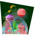 Universe Vectors - Mega Bundle - Space Tower by the Earth