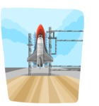 Universe Vectors - Mega Bundle - Space Shuttle on Launch Pad