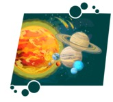 Universe Vectors - Mega Bundle - Sun and Planets in Space