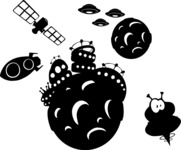 Space Objects Silhouettes