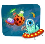 Cute Aliens in Space