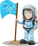 Astronaut Planting a Flag