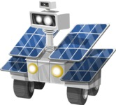 Robot with Solar Panels