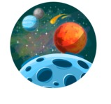 Galaxy Planets Background