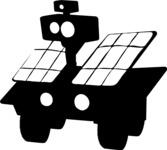 Solar Panels Robot Silhouette