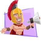 Spartan Warrior Cartoon Vector Character AKA Nikos - Shape 4