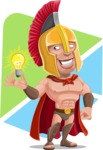Spartan Warrior Cartoon Vector Character AKA Nikos - Shape 5