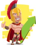 Spartan Warrior Cartoon Vector Character AKA Nikos - Shape 7