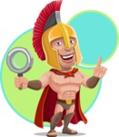Spartan Warrior Cartoon Vector Character AKA Nikos - Shape 12