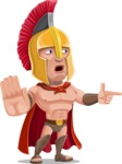 Spartan Warrior Cartoon Vector Character AKA Nikos - Direct Attention 2