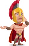 Spartan Warrior Cartoon Vector Character AKA Nikos - Sorry
