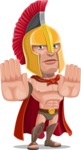 Spartan Warrior Cartoon Vector Character AKA Nikos - Stop 2