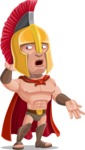 Spartan Warrior Cartoon Vector Character AKA Nikos - Oops