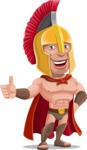 Spartan Warrior Cartoon Vector Character AKA Nikos - Thumbs up
