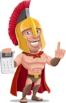 Spartan Warrior Cartoon Vector Character AKA Nikos - Calculator