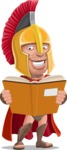 Spartan Warrior Cartoon Vector Character AKA Nikos - Book 1