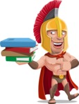 Spartan Warrior Cartoon Vector Character AKA Nikos - Book 2