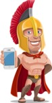 Spartan Warrior Cartoon Vector Character AKA Nikos - iPhone