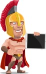 Spartan Warrior Cartoon Vector Character AKA Nikos - iPad 2