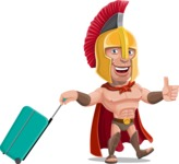 Spartan Warrior Cartoon Vector Character AKA Nikos - Travel