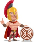 Spartan Warrior Cartoon Vector Character AKA Nikos - Target