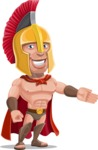 Spartan Warrior Cartoon Vector Character AKA Nikos - Show