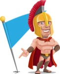 Spartan Warrior Cartoon Vector Character AKA Nikos - Checkpoint