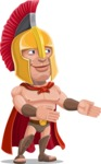 Spartan Warrior Cartoon Vector Character AKA Nikos - Show 2