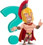 Spartan Warrior Cartoon Vector Character AKA Nikos - Question