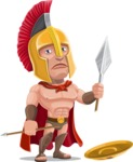 Spartan Warrior Cartoon Vector Character AKA Nikos - Under Construction