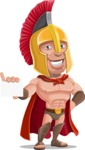 Spartan Warrior Cartoon Vector Character AKA Nikos - Sign 1