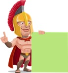 Spartan Warrior Cartoon Vector Character AKA Nikos - Sign 7