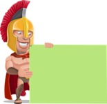Spartan Warrior Cartoon Vector Character AKA Nikos - Sign 8