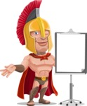 Spartan Warrior Cartoon Vector Character AKA Nikos - Presentation 1
