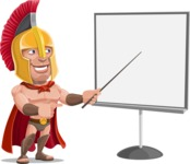 Spartan Warrior Cartoon Vector Character AKA Nikos - Presentation 2