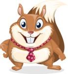 Squirrel with a Tie Cartoon Vector Character AKA Antonio the Businessman - Normal