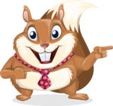 Squirrel with a Tie Cartoon Vector Character AKA Antonio the Businessman - Point 2