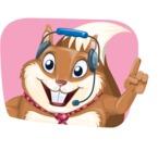 Squirrel with a Tie Cartoon Vector Character AKA Antonio the Businessman - Shape 4