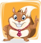 Squirrel with a Tie Cartoon Vector Character AKA Antonio the Businessman - Shape 5